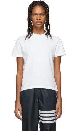 Thom Browne - White Piqué T-Shirt