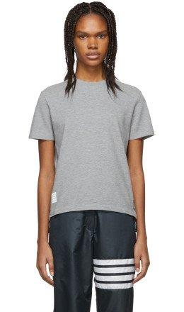 Thom Browne - Grey Piqué T-Shirt
