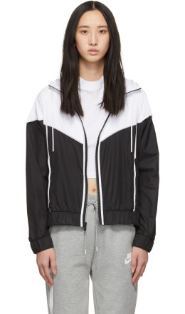 Nike - Black & White Windrunner Jacket