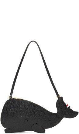 Thom Browne - Black Whale Icon Flat Clutch Bag