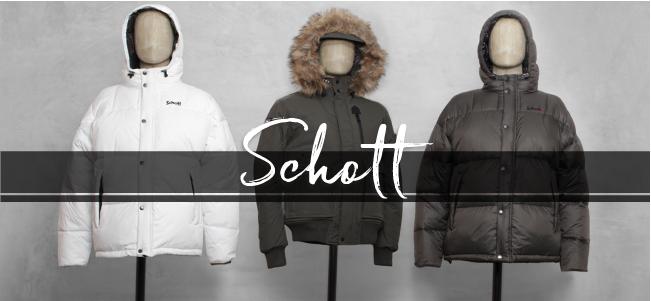 Schott Outrider Natural Wool Button Knit