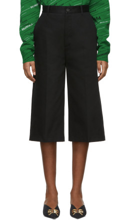 Balenciaga - Black Capri Chino Trousers