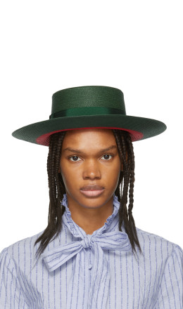 Gucci - Green & Red Straw Hat