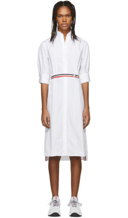 Thom Browne - White Poplin Blouse Dress