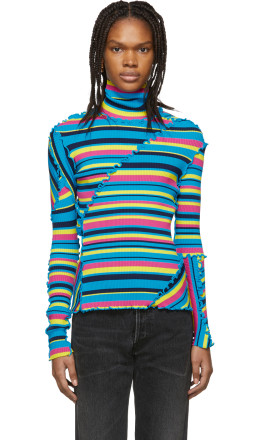Balenciaga - Multicolor Patchwork Turtleneck