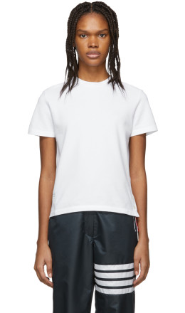 Thom Browne - White Piqué T-Shirt