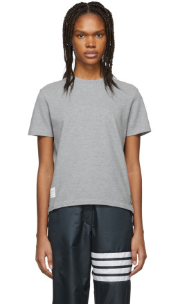 Thom Browne - Grey Piqué T-Shirt