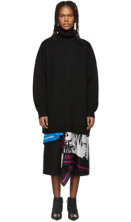 Balenciaga - Black Wool Turtleneck