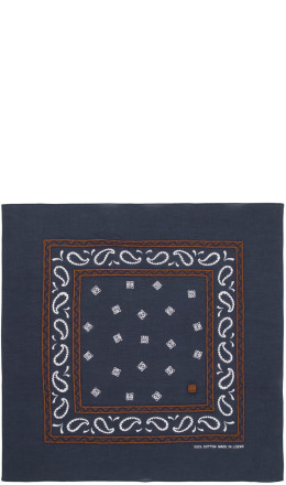Loewe - Navy Embroidered Monogram Bandana