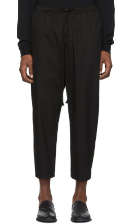 The Viridi-anne - Black Drawstring Trousers