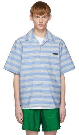Prada - Blue Striped Bahama Shirt