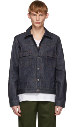 A.P.C. - Indigo Raw Denim Work Jacket