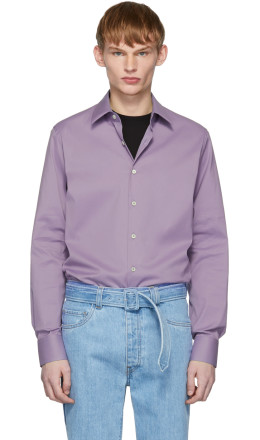 Prada - Purple Stretch Poplin Shirt