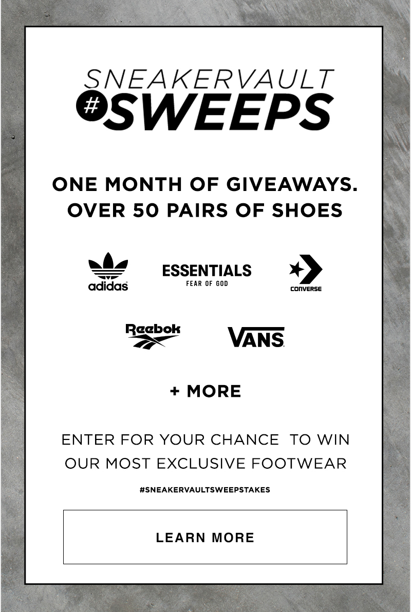 1 Month Of Giveaways #SNEAKERVAULTSWEEPSTAKES - Learn More