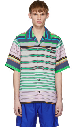 Prada - Multicolor Striped Short Sleeve Shirt