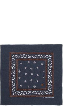 Loewe - Navy Embroidered Monogram Bandana