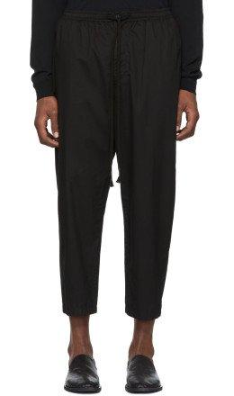 The Viridi-anne - Black Drawstring Trousers