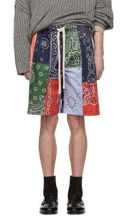 Loewe - Multicolor Bandana Patchwork Shorts