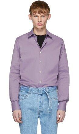 Prada - Purple Stretch Poplin Shirt