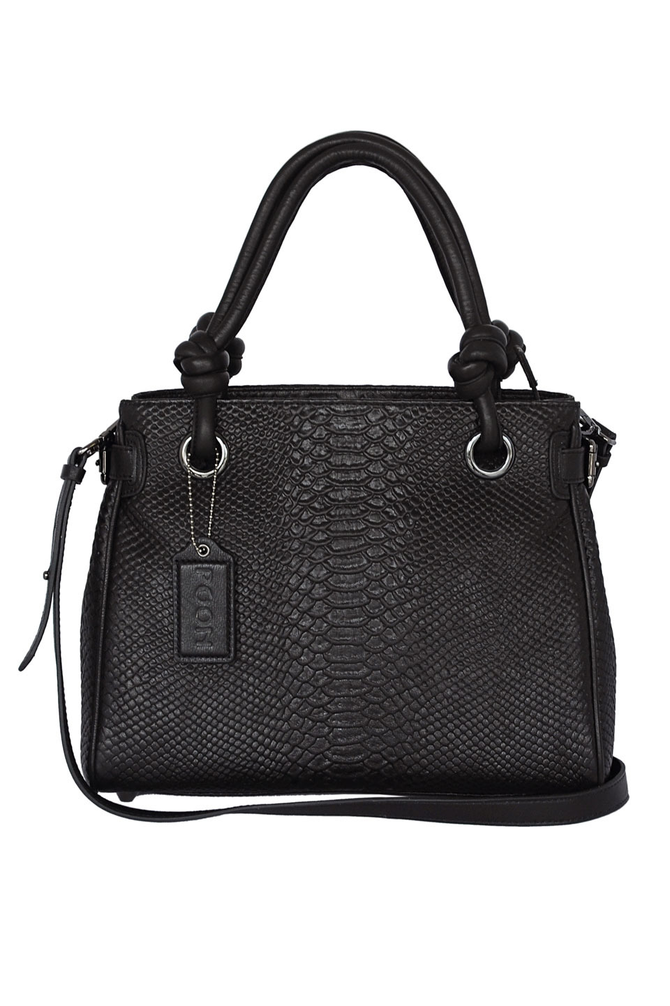 BERYL LEATHER SHOULDER BAG IN BLACK