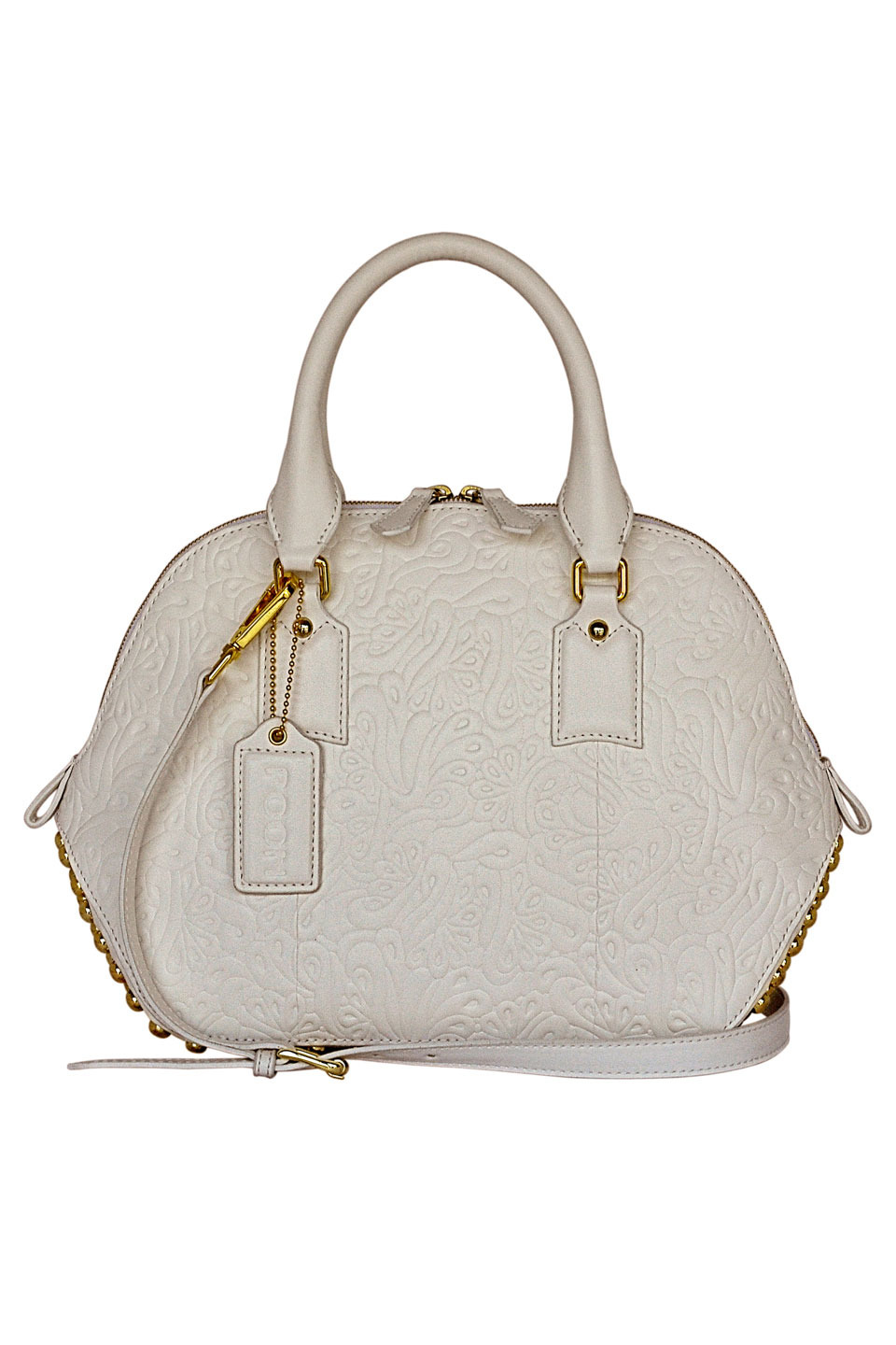 JADE LEATHER SHOULDER BAG IN WHITE