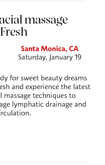 Relax with a facial massage from Fresh