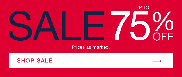 SALE | UP TO 75% OFF