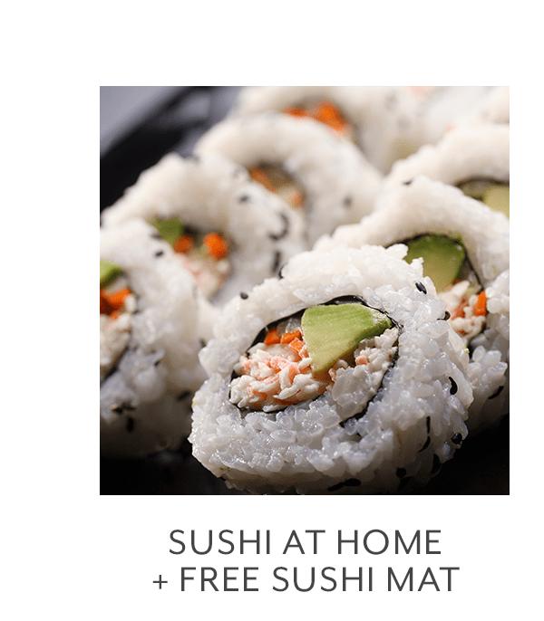 Class - Sushi at Home + Free Sushi Mat