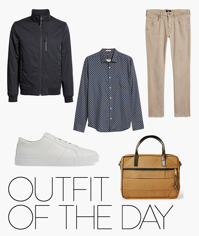 Outfit of the day: head-to-toe business casual look for men.