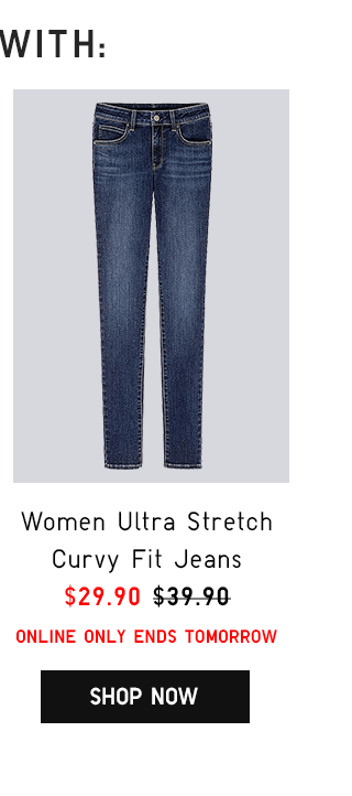 WOMEN ULTRA STRETCH CURVY FIT JEANS $29.90 - SHOP NOW