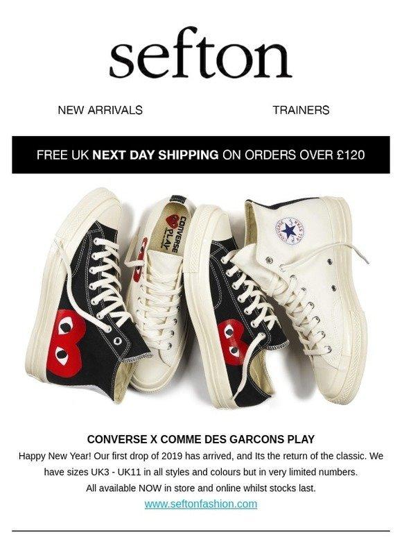 Converse x Comme Des Garçons Play – SEFTON