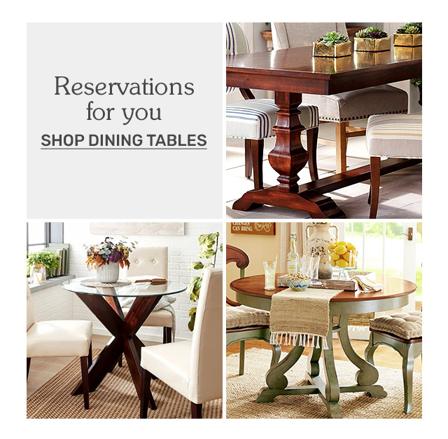 Shop dining tables.