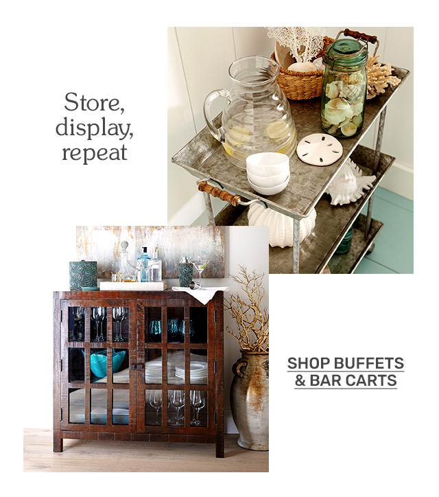 Shop buffets and bar carts.