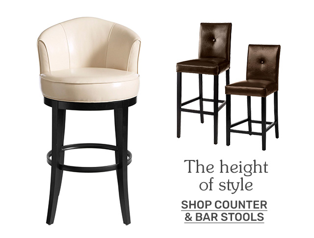Shop counter and bar stools.