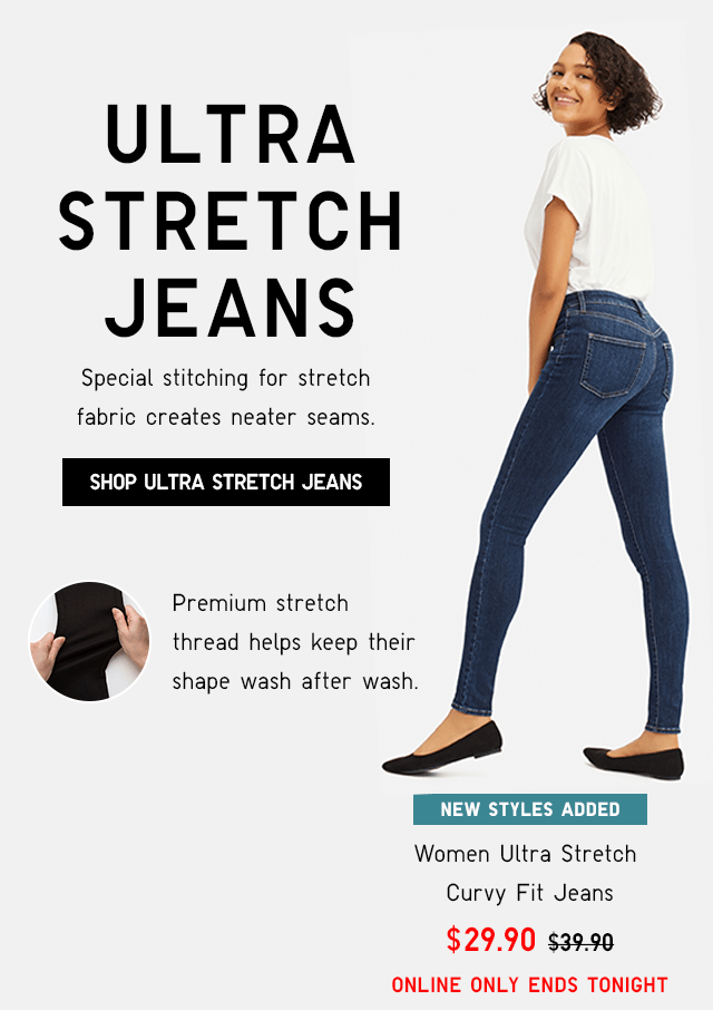 WOMEN ULTRA STRETCH CURVY JEANS $29.90 - SHOP NOW