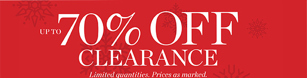 Up to 70% off clearance.