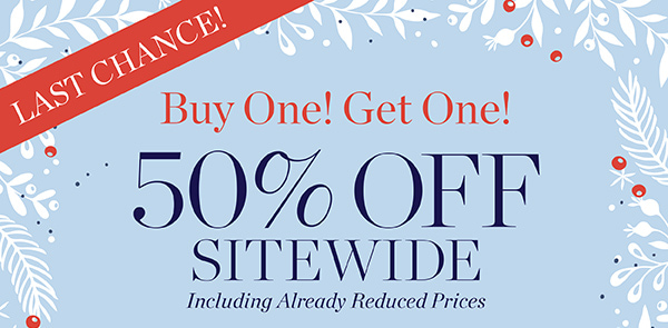 Buy one get one 50% off site wide, plus $4.95 shipping. Promo code A9BOGO1.
