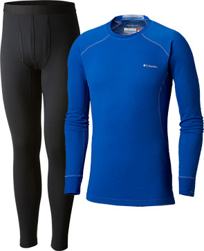 Columbia baselayer tights and a long-sleeve tee.