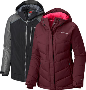 Two Columbia outerlayer jackets.