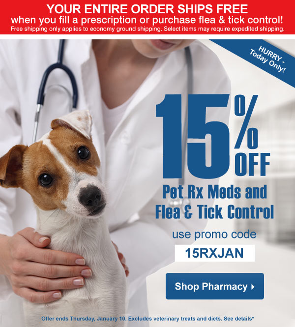 Drs Foster Smith How S 15 Off Rx Meds And Flea Tick Control Sound Milled