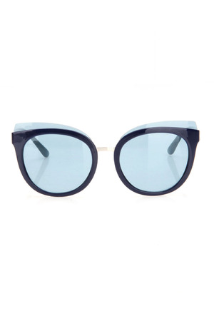 TORY BURCH LADIES SUNGLASSES IN SOLID LIGHT BLUE