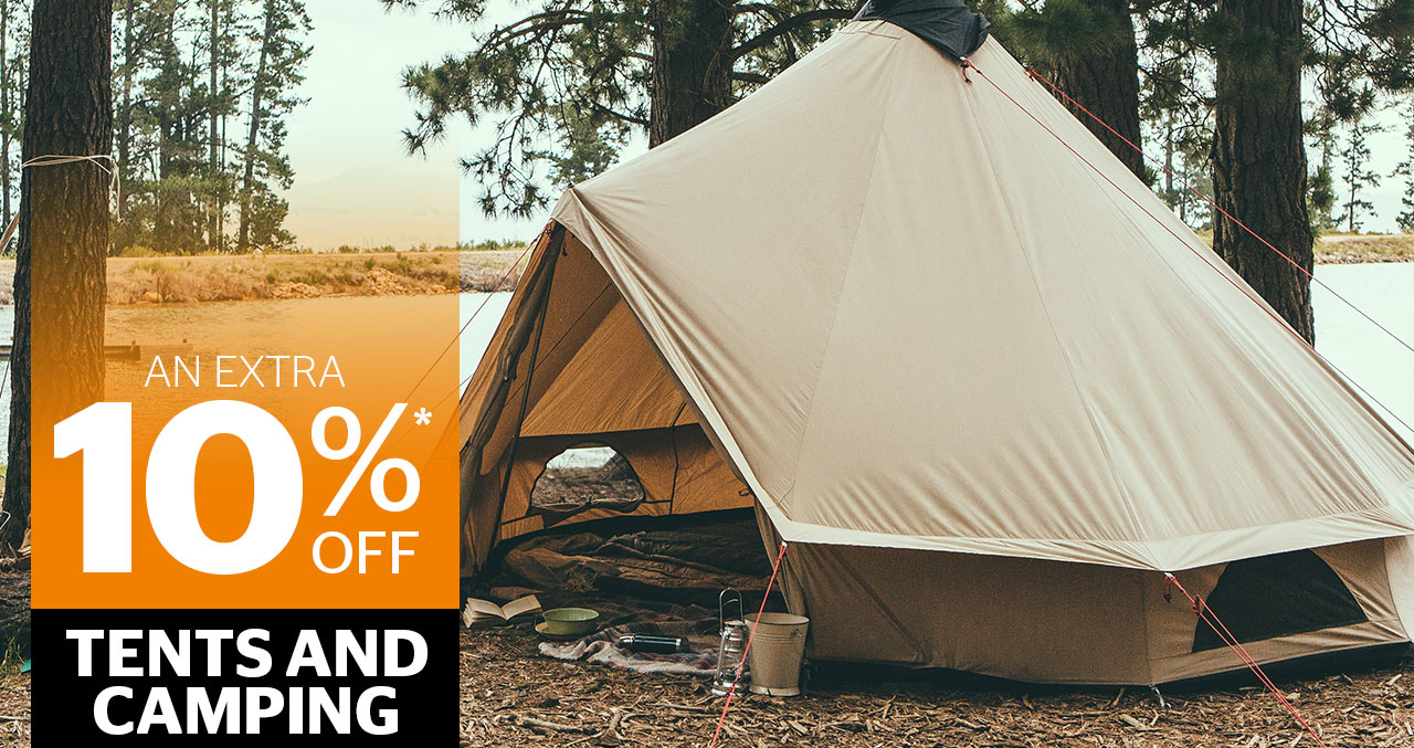 An extra 10% off Tents and Camping
