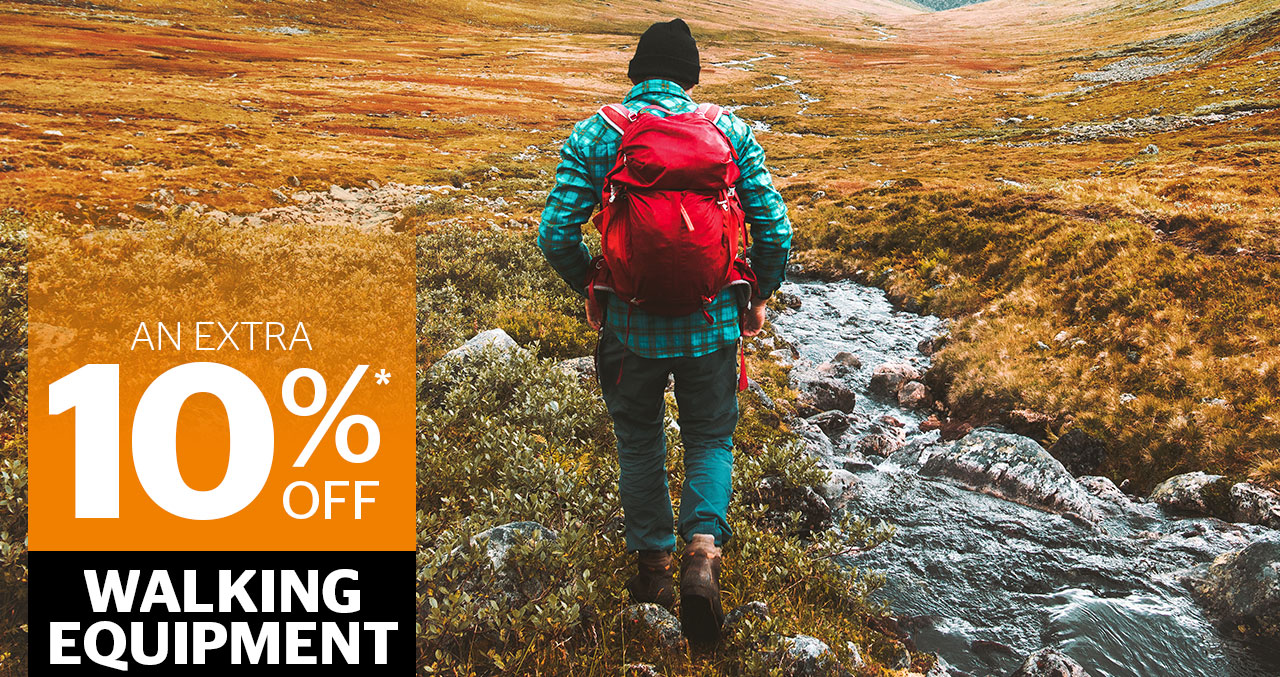An extra 10% off Walking Equipment