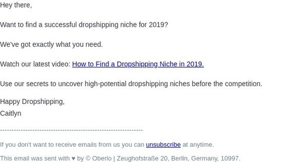 Oberlo Affiliate program: How to Find a Dropshipping Niche in 2019