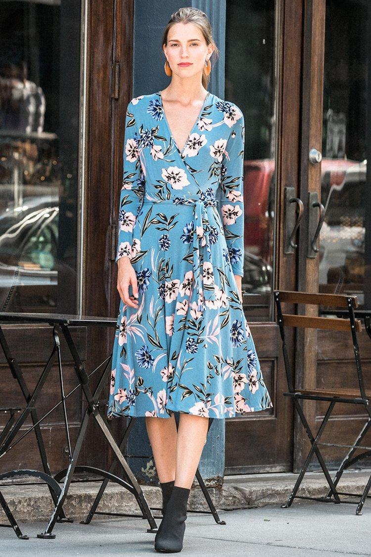 Image of Around Town Midi Jersey Dress