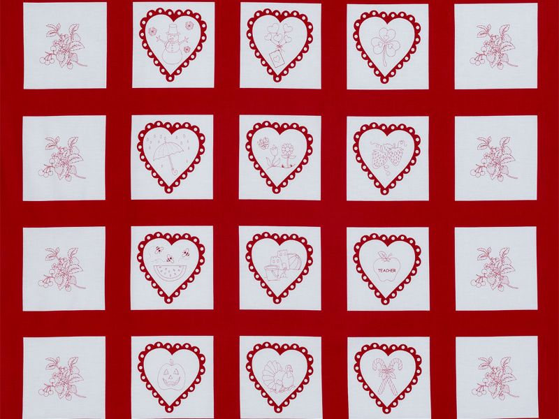 A Year Of Love Fabric Panel