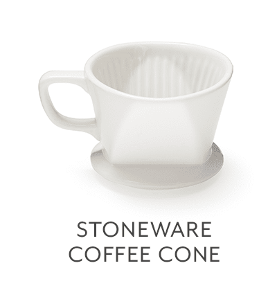 Sur La Table White Stoneware Coffee Cones