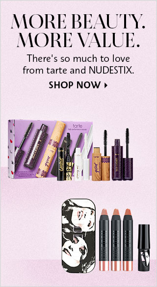 Shop Now Value Sets from tarte and Nudestix