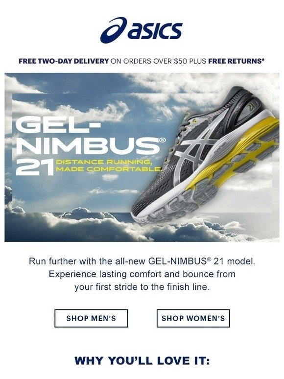 e5a9ca080bc3e ASICS: GEL-NIMBUS® 21: Distance running, made comfortable | Milled