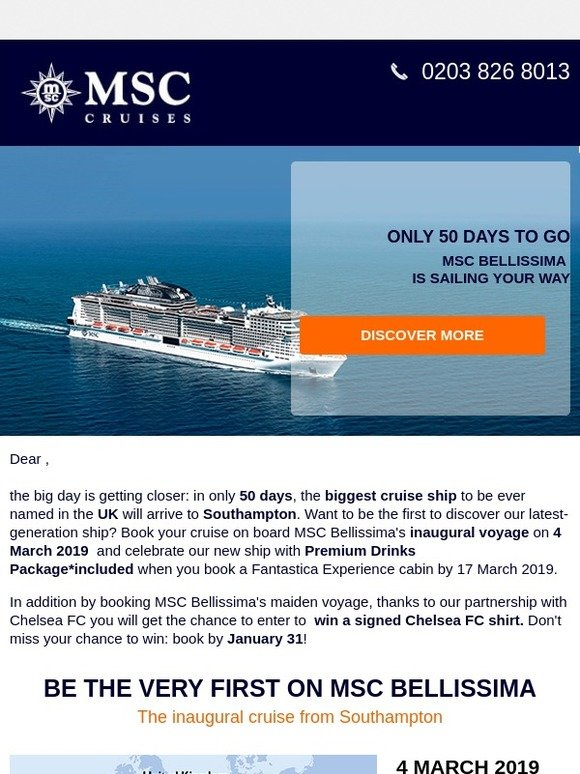 MSC Cruises UK: Only 50 days to the biggest event in MSC UK
